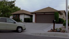 Walt arrives at home.