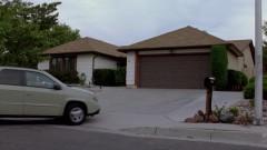 Walt arrives at home.
