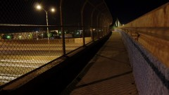 Timelapse of a pedestrian bridge.