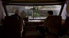Walt and Jesse are stuck in Jesse's driveway.