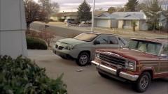 Skylar checks on Walt's car.