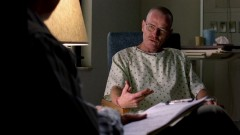 Walt talks to someone at the hospital.