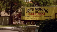 Quick shot of the movers taking Jesse's stuff.