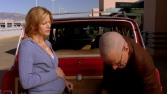 Skylar takes Walt to the airport.