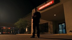 Jesse rushes to the hospital.