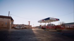 Timelapse of a gas station.