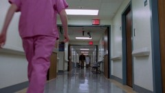 Walt arrives at the hospital.