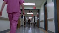 Walt arrives at the hospital.