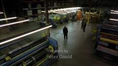 Saul takes the guys to a printing factory.