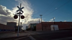 Timelapse of a railroad crossing.
