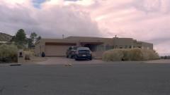 Walt leaves Hank's house.