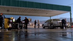 Walt Jr. helps out at the carwash.