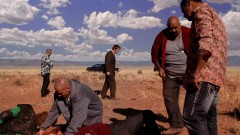 Tuco takes Saul and the skaters out to the desert.