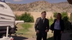 Saul checks out the Kettleman house.