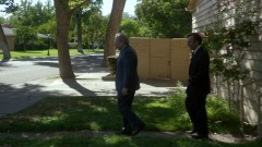 Chuck and Saul leave Chuck's house.
