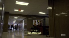 Flashback to last season's finale, Saul is at the courthouse