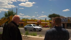 Nacho and Mike stake out a restaurant that Tuco regularly visits