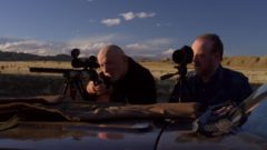 Mike is out in the desert trying out a new rifle
