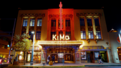 Chuck passes the Kimo Theatre