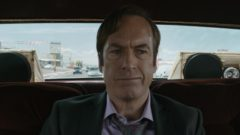 Saul is driven through town